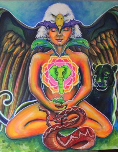 Spirit animal guides chakras painting